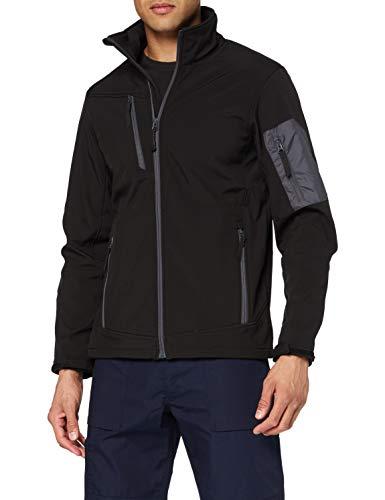 Regatta Professional Arcola Wind Resistant 3-Layer Waterproof Membrame Softshell Jacket Blouson Homme, Noir/Gris, L