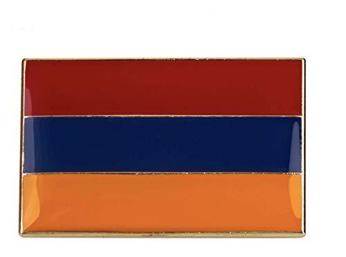 Parche Nación Armenia - Broche de metal con bandera armenia grande