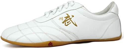 AGYE Tai Chi Schuhe, Taekwondo Schuhe Unisex Tai Chi Kampfkunst Sneaker Boxschuhe Atmungsaktive Kung Fu Schuhe Für Kinder Erwachsene,White-39