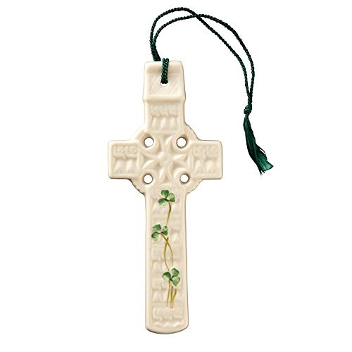 Belleek 2801 Celtic Shamrock Wall Cross
