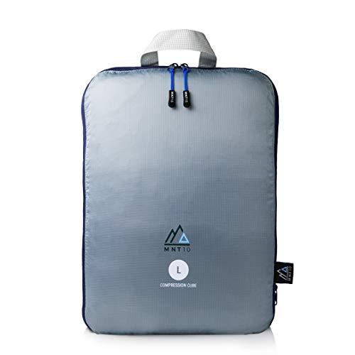 MNT10 Packtaschen Kompression I Travel Bag mit Schlaufe als Koffer-Organizer I leichte Kompressionsbeutel für den Rucksack I Kleidertaschen als Gepäck Organizer auf Reisen | Packing Cubes (L)