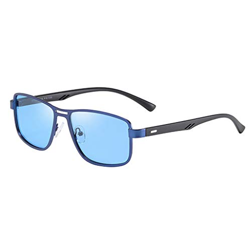 B Baosity Fashion Sunglass Mens Rectangular Casual Protección UV Sombras de Gafas - Azul, unico