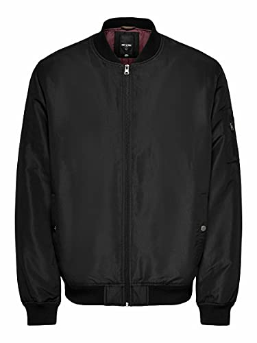 Only & Sons Onsjack AW Bomber Otw Vd Chaqueta, Color Negro, L para Hombre
