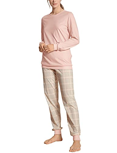 CALIDA Damen Tender Nights Bündchen Pyjamaset, Evening Sand, 52-54