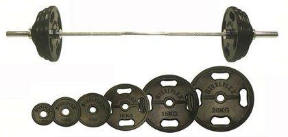 STEELFLEX オリンピック ラバーバーベルセット(STEELFLEX50mm孔径ラバーバーベル) 140kgセット No.3