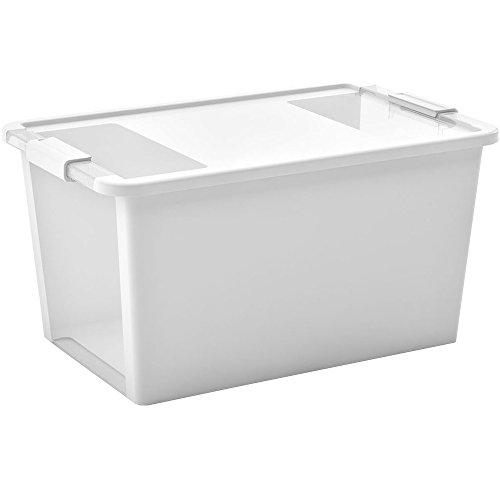 KIS Aufbewahrungsbox Bi Box 40 Liter in grau-transparent, Plastik, 55x35x28 cm