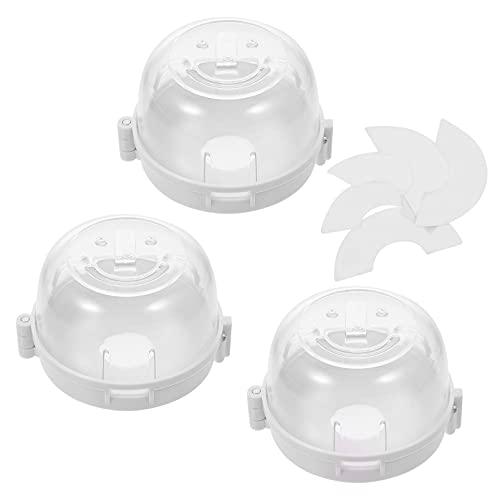Kisangel Cubierta de Seguridad para Niños Protección de Seguridad para Niños Protección de Gas para Horno Cubierta de Pomo de Seguridad Diseño Universal Grande a Prueba de Bebés para Horno