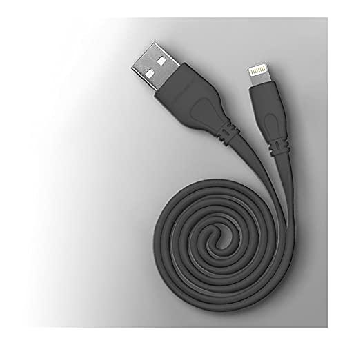 LLRZ Conectores Cordón de Rayo Certificado Certificado USB-A a Cable de Cable de relámpago para teléfono SE/XS/XS MAX/XR/X / 8/7/6 y más (1M) Accesorios (Color : Black)