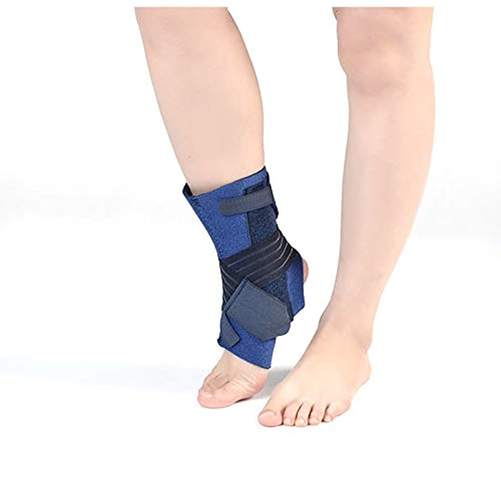 耳下手死んでいる足首サポート、男性/女性用の調節可能なベルクロ足首ブレース、スポーツ用足首ラップ、捻rain、靭帯損傷、アキレス腱、関節炎,S