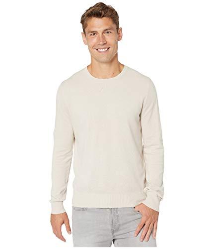 J.Crew Cotton-Cashmere Piqué Crewneck Sweater Dusty Pearl XS