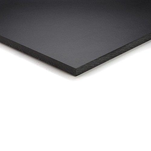 6mm HPL Platte 70x50 cm schwarz