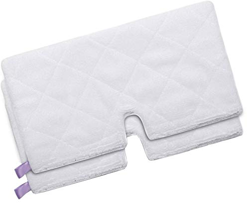 Malayas - 2 Pcs Washable Microfiber Cleaning Mop Pads Replacement Steam Mop Pad Covers Compatible: Shark Steam Pocket Mops S3901 S3501 S3601 S3500 S3550 S3901 S4501 S3455