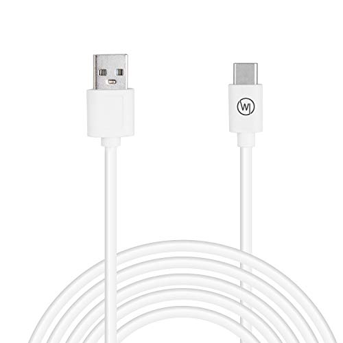 Wicked Chili 1 Stück 500cm USB-C Verlängerung/Ladekabel kompatibel mit PS5 Dualsense, Nintendo Switch Pro, Xbox Series X Wireless USB C Controller, Play and Charge Kit (5m, extra lang, weiß)