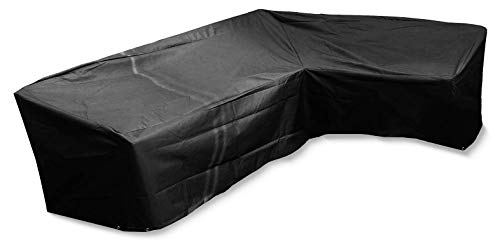 Bosmere L-Shaped Sofa Cover (3m) - Premium Outdoor Furniture Cover - 100% Waterproof, UV Protected, Quality Protection, Black - 6 Year Guarantee - M664