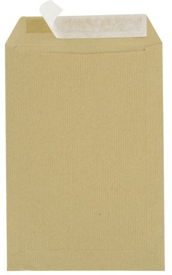 Majuscule - Paquete de 50 sobres Kraft de 90 gramos, 16 x 23 cm, bandas despegables