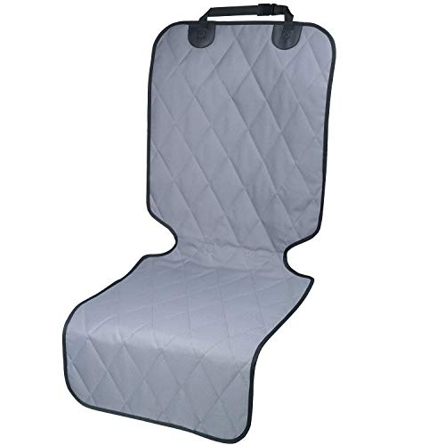 Dog Car Seat Covers for Bucket Seats with No-Skirt Design, Quilted & Durable 600 Denier Oxford Front Seat Protectors with Anti-Slip Backing, Fits Most Cars, SUVs & MPVs by Vivaglory, Grey
