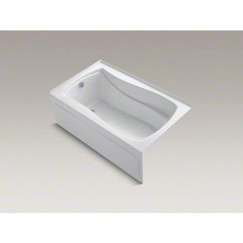 Kohler K 1242 La 0 Mariposa 5 Foot Bath With Left Hand Drain White Recessed Bathtubs Amazon Com