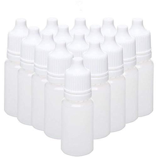 HpyAlwys Lot de 50 flacons compte-gouttes en plastique LDPE pour les yeux vides (10 ml)