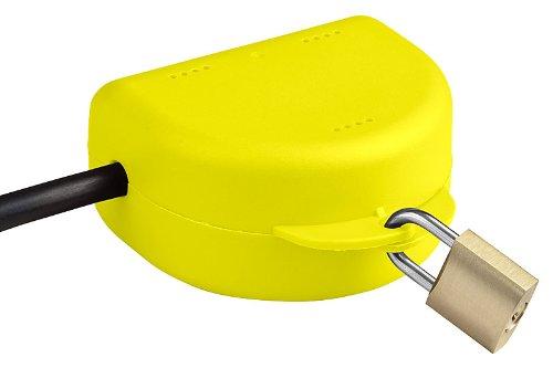 RuS Steckersafe Basic - Die abschließbare Box für jeden Stecker - Jetzt mit wählbarer Farbe (Gelb)
