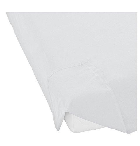 biberna Biber Flanell Bettlaken Doppelpack 150x250 in Weiß