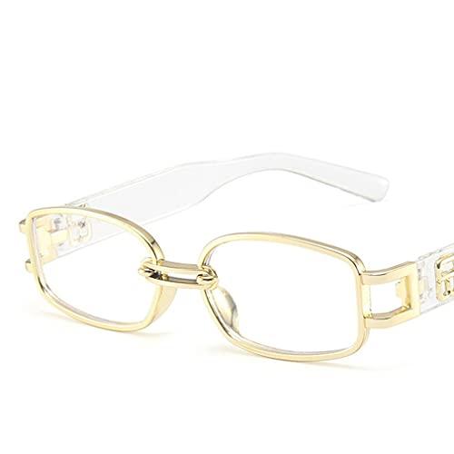 SeniorMar-UK Gafas de Sol con Montura Cuadrada, Gafas de Sol Coreanas de Sunnies Studios, Gafas de Sol para Mujer