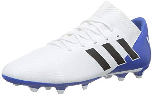 Adidas Nemeziz Messi 18.3 FG J, Botas de fútbol Unisex Adulto, Blanco (Ftwbla/Negbás/Fooblu 001), 38 EU