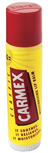 Carmex Feuchtigkeitsspendendes Lippenbalsam Stick für trockene und rissige Lippen (Lippenstift) mit LSF15 (1x4.25g)
