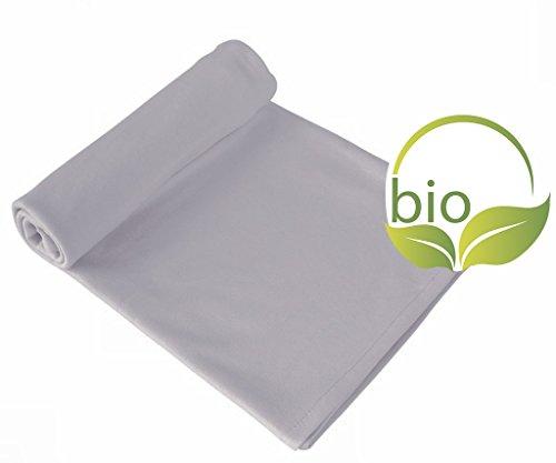 ByBoom - Babydecke, Kuscheldecke, Erstlingsdecke, Sommerdecke, 70x100 cm; 100% BIO BAUMWOLLE, Farbe:Grau/Grau