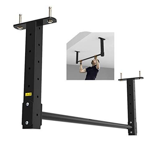 Jszzz Dip Ständer Einstellbare Arm-Stärken-Prüfverfahren Startseite Übung Einzel Rod Wandmontage Gymnastik Bar Krawatte (Color : Black, Size : 120 * 42 * 15cm)