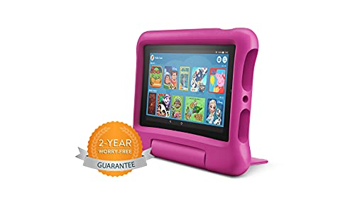 Fire 7 Kids tablet   for ages 3-7   7' Display, 16 GB   Pink Kid-Proof Case