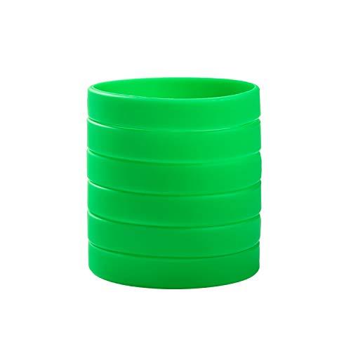 BRANDWINLITE Wholesale 6pcs/Pack Single Colors Blank Silicone Wristbands Rubber Bracelets