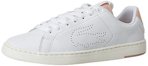Lacoste Damen 739SFA001283J Sneaker, Weiß(White/Rosa), 37 EU