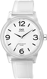 Q&Q Unisex White Dial Plastic Band Watch - VR35J006Y
