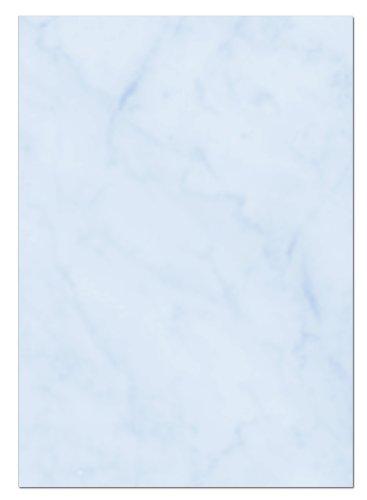 Gastronomie Papier (Blau-Marmor, A5, 100 Blatt) für Speisekarten. Marmoriertes Papier, Einseitig bedruckt, für alle Drucker/Kopierer geeignet