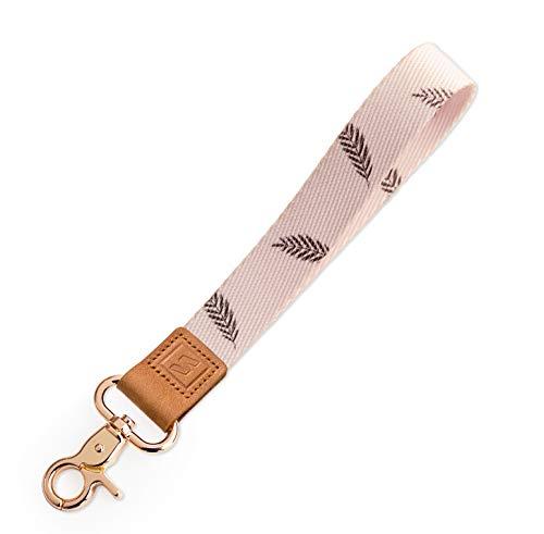 SENLLY Llavero Correa para Cordón Cuerda Wristlet Lanyard Keychain Strap, para el key, Teléfono Móvil, USB, Llaves, Nombre Tag, Tarjetas de Identificación (Palm Leaf)