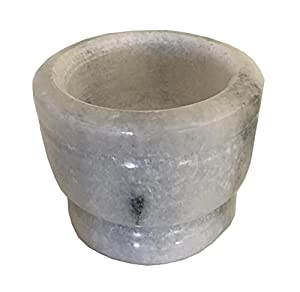 """White Marble Incense Burner Bowl/Smudge Pot/Wicca Ritual Offering Bowl 4"""" W x 3"""" H SOB66"""
