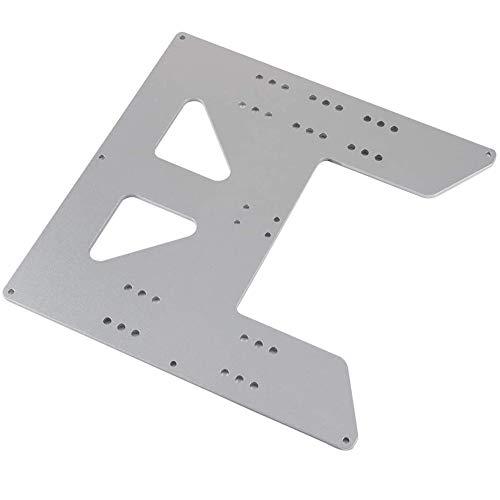 Bento Impresora Heizbetthalter Anet A8 A6 Heatbedholder Y del Carro 3D Impresoras 3D De Upgrade Y Coches Placa De Aluminio Anodizado para La Cría A8 Soporte del Lecho,Plata