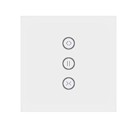 Jinvoo WiFi EU Curtain Switch, controlador Roller Shutter Switch, trabaja con Alexa Echo y Google Home, compatible con iOS/Android, varias veces (necesita 1 conductor neutro. Soporta 2,4 GHz