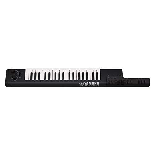 Yamaha Digital Keyboard Sonogenic SHS-500B, schwarz – Tragbares Umhänge-Keyboard mit Midi-Anschluss, USB & Bluetooth – KeyTar mit Jam-Funktion