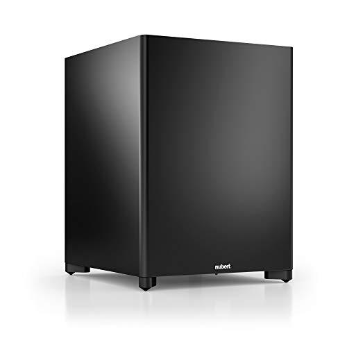 Nubert nuSub XW-700 Subwoofer | Lautsprecher für Bass & Effekte | Surround & Action auf höchstem Niveau | Downfiresubwoofer mit Aktiv-Technik | LFE-Box mit 250 Watt | Subwoofer Schwarz