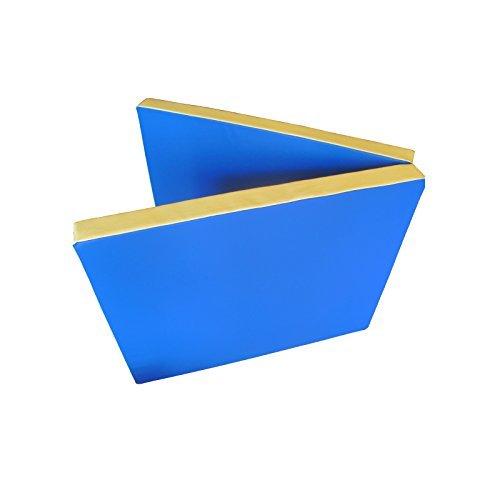 Niro Sportgeräte Turnmatte Weichbodenmatte Klappbar, Blau/Gelb, 200 x 80 x 8 cm