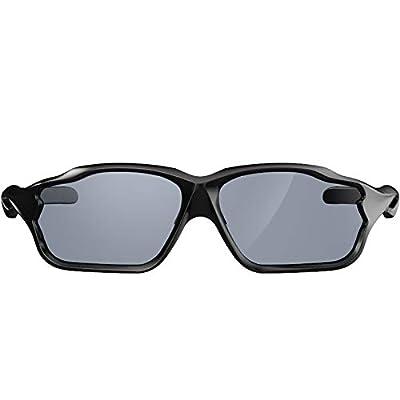 HULISLEM AERO Sport Polarized Sunglasses For Men Women Mens Womens Running Golf Sports UV400 Protection And Ultralight Perfect To Cycling Running (Matte Black Sliver)