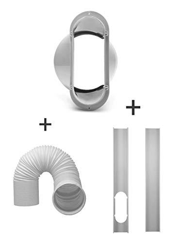cheap dezirZJjx Air conditioner accessories, 2 window rails, plate + 5.9 inch adapter tube …