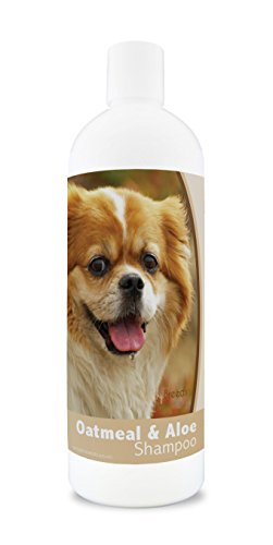 Healthy Breeds Aloe & Oatmeal Dog Shampoo for Tibetan Spaniel - Over 200 Breeds - 16 oz - Mild & Gentle for Sensitive Skin - Hypoallergenic Formula & pH Balanced