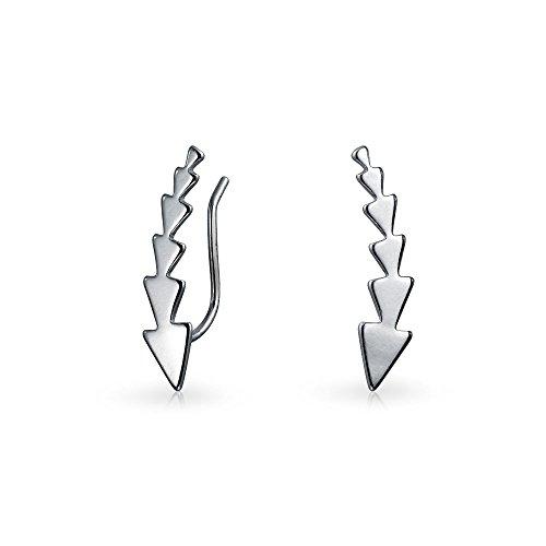 Punto Triángulos Flecha Geométrico Minimalista Pin Oído Warp Escaladores Clips De Cartílago Pendiente Mujer Orugas 925