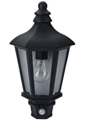 Demi lanterne noire avec PIR