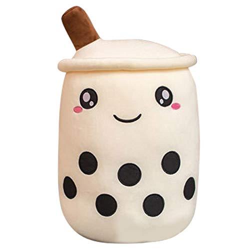 Enjoyyouselves Bubble Milk - Cojín de taza de té, diseño creativo de Boba, peluche, juguete de muñeca relleno, para niños, adultos y amantes de Boba.