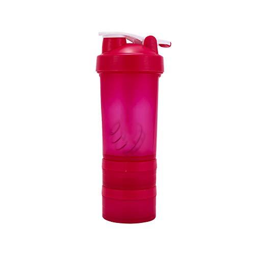 TTXS 600ML Moda De Tres Capas De Plástico De La Gimnasio Deportes De Agua De La Copa De Agua Polvo De La Proteína De Tres Capas