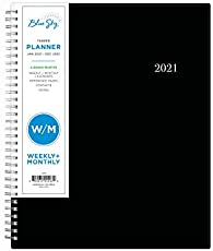 """Blue Sky 2021 Weekly & Monthly Planner, Flexible Cover, Twin-Wire Binding, 8.5"""" x 11"""", Enterprise (124093)"""