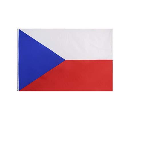 stormflag Tschechische Republik Flagges (90cmx150cm) Polyester Pongee 90g mit Ösen mit Doppelnadel genäht.